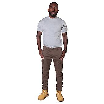 Men's cargo trousers - brown