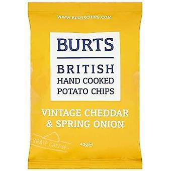 Burts Cheddar mature & Croustilles de printemps 40g x20