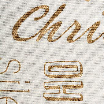 Dii Gold Christmas Collage Dishtowel (Ensemble de 2)