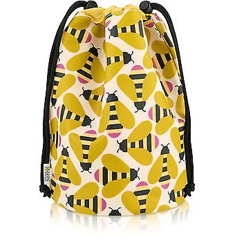 Orla Kiely Busy Bee Barrel Wash Bag
