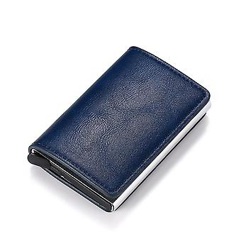 Mann-Frauen Smart Business Card Halter Brieftasche, Kreditkarte Mini-Karte Brieftasche