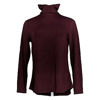 H par Halston Women's Top Essentials Turtleneck Long Sleeve Purple A311525