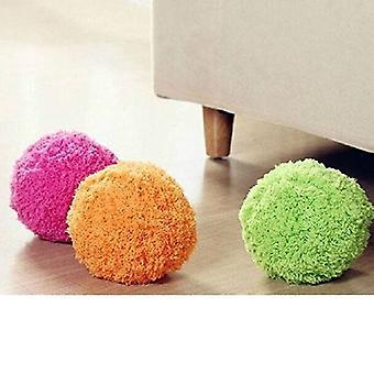 Mini Robot Rolling Ball Cleaner - Microfiber Dweilbal ! De nieuwste trend uit Japan fluffy en kleurrijke vloerreiniger