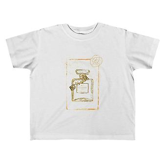 "White Graphic Toddler Size ""couture"" Perfume Bottle Tee"