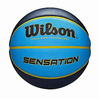 Wilson Sensation Total Grip Technology Basketball Ball Blue/Navy