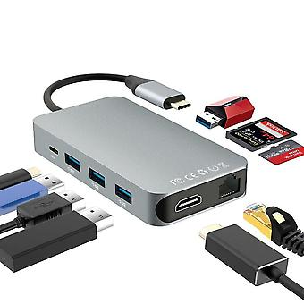 9-i-1 Usb C Hub-multi-funksjon dokkingstasjon for Macbook Pro, Samsung S9,