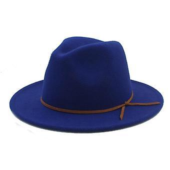100% Gyapjú Outback Fedora Kalap Széles Brimy Cloche Jazz Egyház Keresztapa Cap