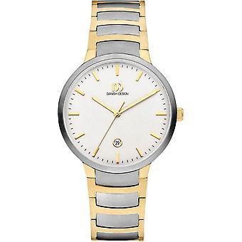 Danish Design Faro Large Watch - Silver/Gold/White