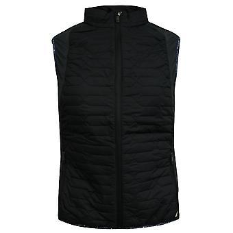Lyle & Scott Geïsoleerde Mens Gilet Mouwloos Vest Zip Zwart JK340G 572 X30A