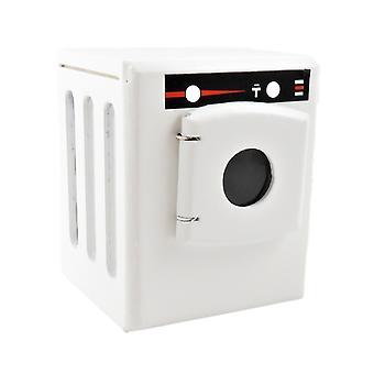 בית בובות קטן לבן מכונת כביסה מכשיר מודרני ריהוט מטבח
