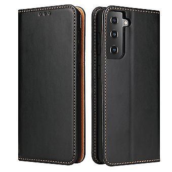 Für Samsung Galaxy S21 + Plus Fall Leder Flip Wallet Folio Cover Schwarz