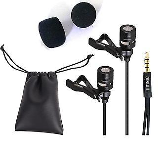 Micrófono de condensador mini clip, cubierta de espuma y bolsa de almacenamiento
