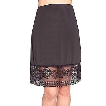 Mode Unterrock Schnürung Mesh Spliced Solide Farbe hohe Taille intimate schiere