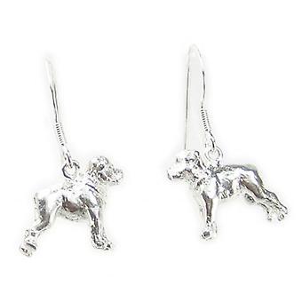 Staffordshire Bull Terrier Hund Sterling Silver Örhängen X 1 Par