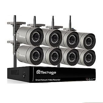 3mp Hd Wireless Security Surveillance Camera System Color Night Ip Twee weg