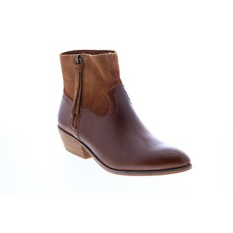 Frye & Co. Rubie Zip Bootie  Womens Brown Leather Ankle & Booties Boots