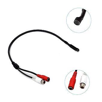 Microphone audio Rca Power Cable pour caméra de sécurité cctv