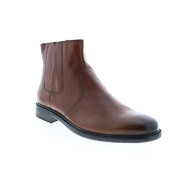 Geox U Terence  Mens Brown Leather Zipper Chelsea Boots