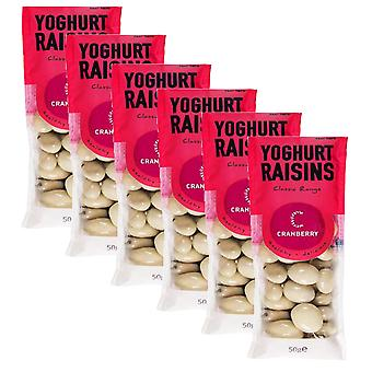 8 x 50g Yoghurt Raisins Milk Chocolate Coating Sweet Natural Fruit Snack Vegetarian