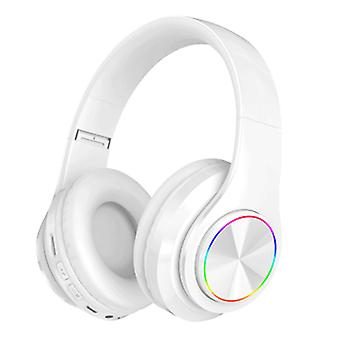 Trådlösa Bluetooth-hörlurar över örat med LED-lampa
