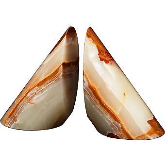 Spura Home Coronet -kokoelma Vaaleanvihreä pari Onyx Vintage Marble Bookends