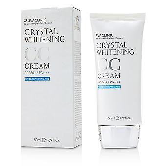 3W klinik Crystal tandblekning CC Cream SPF 50 +/ PA +++-#01 Glitter Beige 50ml/1,69 oz