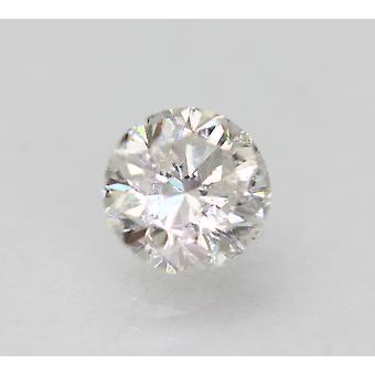 Certified 0.80 Carat D VS2 Round Brilliant Enhanced Natural Loose Diamond 5.7mm