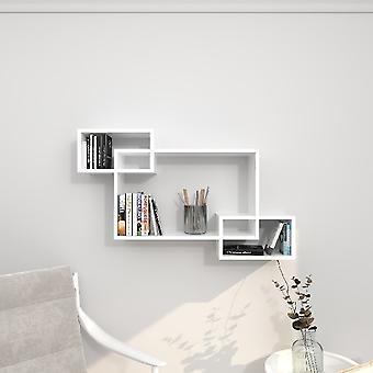 Davis Shelf White Chipboard Melamine, L100xP20xA59.2 cm