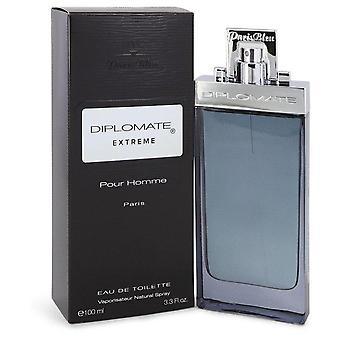 Diplomate Pour Homme Extreme Eau De Toilette Spray By Paris Bleu 3.4 oz Eau De Toilette Spray