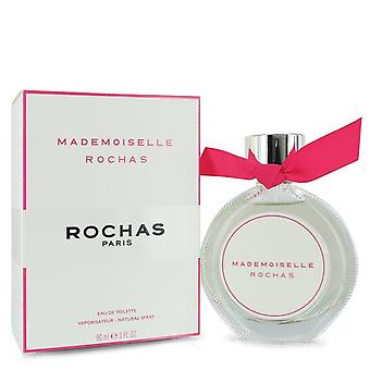 Mademoiselle Rochas Eau De Toilette Spray By Rochas 3 oz Eau De Toilette Spray