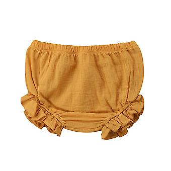 Småbarn Spädbarn Baby Kids Ruffles Shorts Bottnar Solid Pp Bloomers Bomull Blöja