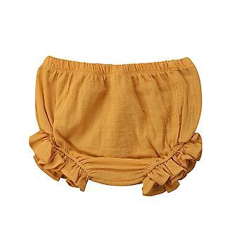 Bambino Bambino Bambino Volant Pantaloncini Fondi Solido Pp Bloomers Pannolino di cotone