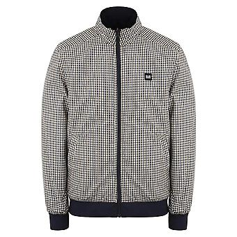 Weekend Offender 2101 Capricious Lightweight Reversible Check Jacket - Navy