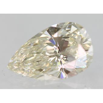 Sertifioitu 0,50 karat J VVS1 päärynä enhanced natural loose diamond 7.02x4.47mm 2VG