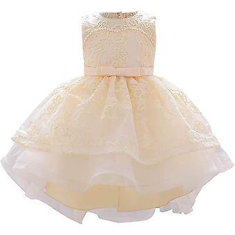 Baby Meisje Formele Doop Prinses Jurk 887-champagne
