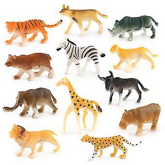 12pc barn diverse plast ville dyr-jungelen zoo figur