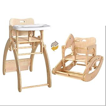 Multifunctional Solid Wood Dining Table Baby Dining Chair