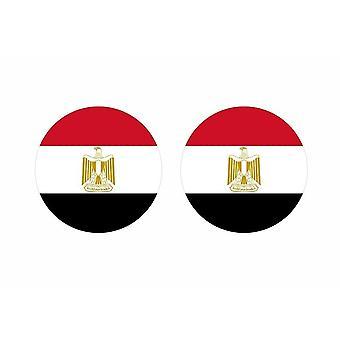 2x stick klistermärke rund cocarde egyptisk egyptisk flagga