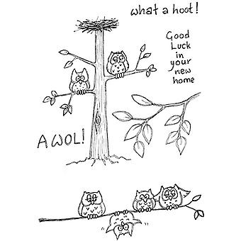 Lindsay Mason Designs Awol What A Hoot! Clear Stamp