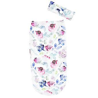 Nouveau-né Baby Happy Flute Bedding Soft Cute Floral Anti-startle, Anti-kick,