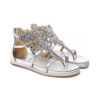 Alma en Pena Embellished Leather Gladiator Sandals