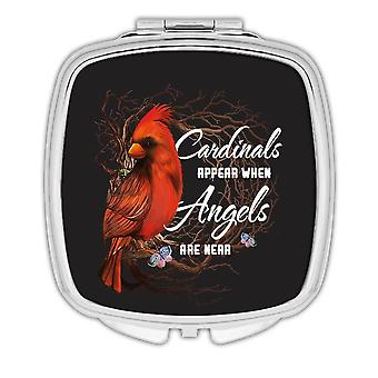 Gift Compact Mirror: Cardinals Appear Angels