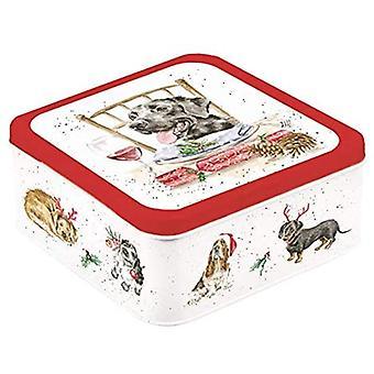 Wrendale Designs Perro Navidad Tin