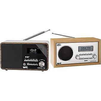 22-220-00 DABMAN 100 Digitalradio (Holzgehäuse, LCD-Display, DAB+/UKW, RDS, 3,5mm Klinke) braun