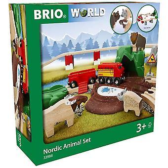 Brio BRIO 33988 Nordic Dierenset.  Houten Spoorweg