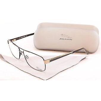 Jaguar Eyeglasses Frame 33068 854 Gold Gray Metal High Quality Germany 60-15-145