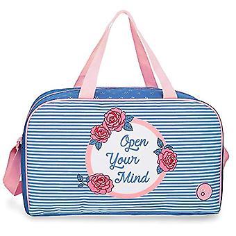 Roll Road Rose Travel Bag Azzurro 45x26x20 cms Polyester 23.4L