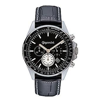 Gigandet G3 007 - Watch, leather strap, black color