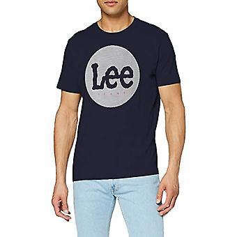 Lee Circle Tee T-Shirt, Navy Blue, XXL Men's