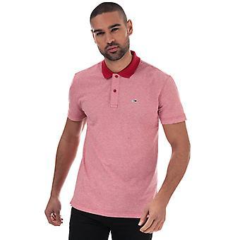 Menn Tommy Hilfiger Strukturert Polo Skjorte i Rødt